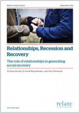 Relationships, Recession and Recovery report cover