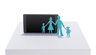 Cut out paper family